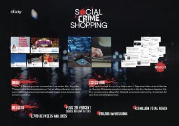 Ebay: Social Crime Shopping [image] Digital Advert by Achtung! Hamburg