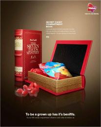 Malaco: Malaco Secret Candy Compartments, 3 Print Ad by King