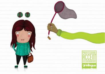Inlingua Language Courses: Girl Print Ad by Miami Ad School Hamburg