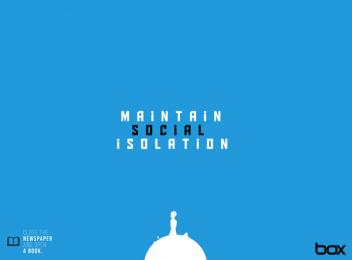 Box Comunicação: Maintain social isolation Print Ad by Box Goiania Brazil