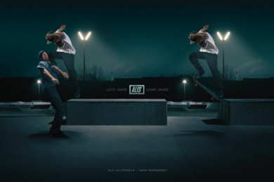 Alis: Less Hate – More Skate, 3 Print Ad by ... & Co.