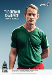 NSPCC Childline: The Gherkin Challenge. Sunday 4th March 2012 Print Ad by Langland