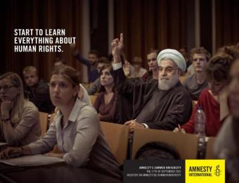 Amnesty International: Rohani Print Ad by Air Brussels, L.A. Initials