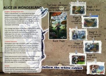 Alice in Wonderland: ALICE IN WONDERLAND Promo / PR Ad by Zenithmedia