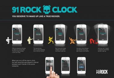 91 Rock Radio: 91 ROCK CLOCK Promo / PR Ad by J. Walter Thompson Sao Paulo
