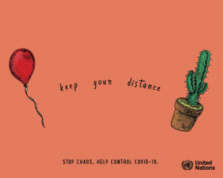 United Nations: Keep Your Distance, 3 Print Ad by Salsa Lima