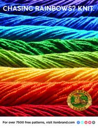 Lion Brand: Chasing Rainbows? Knit Print Ad by No, No, No, No, No, Yes