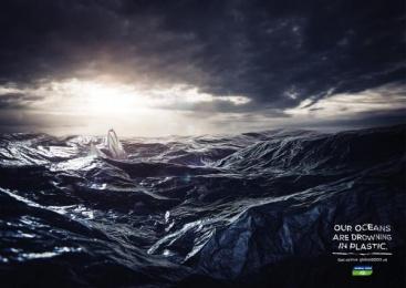 Global 2000: Plastic Ocean Print Ad by Heimat Wien