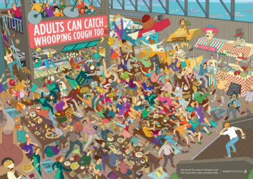 Sanofi Aventis: Food Court Print Ad by Saatchi & Saatchi Wellness