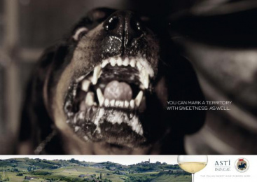 Consortium For The Protection And Promotion Of Italian Sweet Sparkling Wine Asti: DOG Print Ad by Red Cell