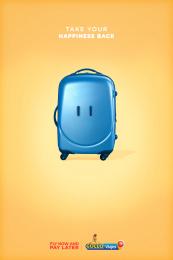 Gollo: Happy Luggage, 3 Print Ad by McCann San José