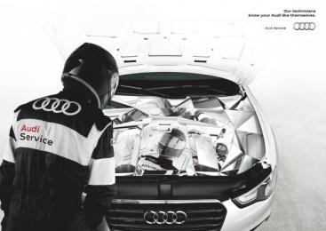 Audi Service: Mirror Print Ad by Verba DDB Milan