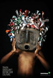 Greenpeace: African Trash Masks 'Grey Mask' Print Ad by Advantage Y&R Namibia