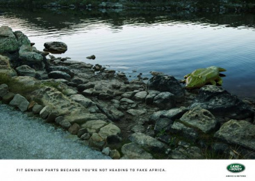 Land Rover: Crocodile Print Ad by Publicis Machine Johannesburg