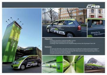 Chauffeur Service For Vienna City Airport Train: CAT-CAB Print Ad by Spirit Design