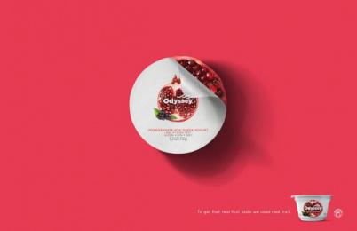 Odyssey Greek Yogurt: Pomegranate Print Ad by STIR Milwaukee