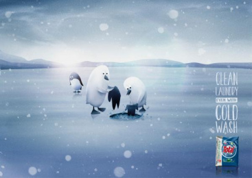 Total Minimax Detegrent: Penguins Print Ad by Advico Y&R Zurich