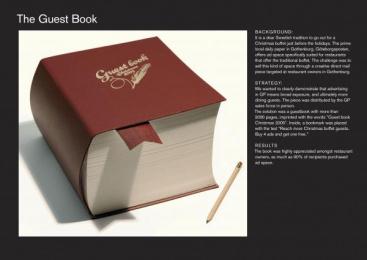 Goteborgs-posten: GUEST BOOK Direct marketing by Forsman & Bodenfors Gothenburg