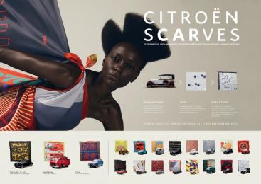 Citroen: Citroën Scarves, 7 Print Ad by BETC São Paulo