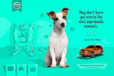 Nissan: X-Trail 4 Dogs, 1 Print Ad by ALFA Goiás