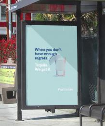 Postmates: We Get It - Tequila Outdoor Advert by 180 LA