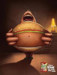 Willifood: Burger Print Ad by DraftFCB Tel Aviv