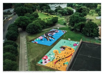 Nike: Zoo Lake Community Basketball Courts [image] 1 Outdoor Advert by Futura