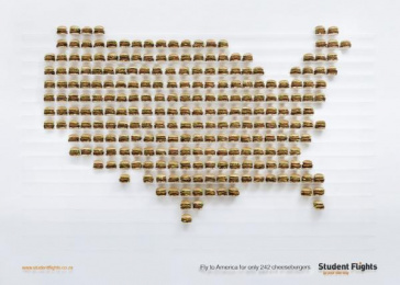 Student Flights: Burgeronomics Print Ad by TBWA\Hunt\Lascaris Johannesburg