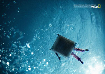 National Geographic Tv Channel: Deadliest shark attacks, 1 Print Ad by Ireland/Davenport