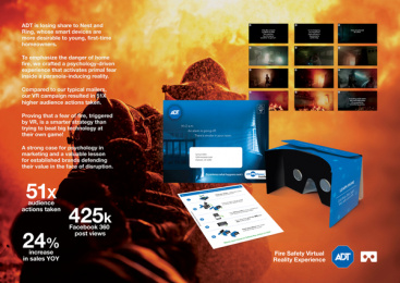 Adt: ADT Fire Safety Virtual Reality Experience Print Ad by Harte Hanks