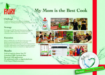 Fairy: MY MOM IS THE BEST COOK Promo / PR Ad by Starcom Istanbul