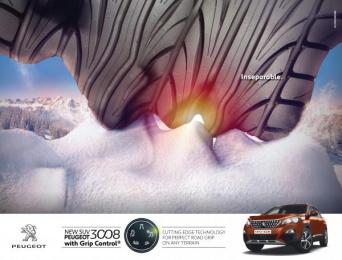 Peugeot 2008: Inseparable Print Ad by Bruckner Yaar Levi Tel-Aviv