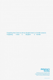 Alzheimer's Society: Fade - Daughter Print Ad by Fallon London