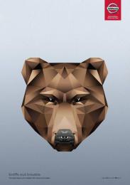Nissan: Brown Bear Print Ad by Juniper Park \ TBWA