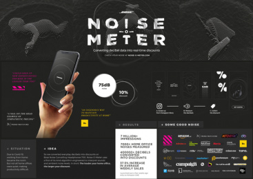Bose: Noise-o-Meter - Board Case study by Wunderman Thompson Dubai