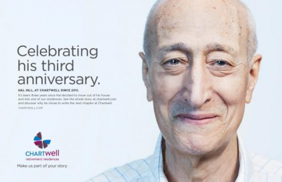 Chartwell Retirement Residences: Make us part of your story- Hal Hill Print Ad by Lowe@Alfred Amsterdam