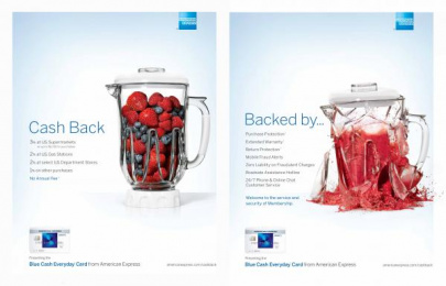 American Express: Blender Print Ad by Ogilvy & Mather New York