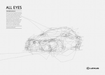 Lexus Is: Eyes will follow, 1 Print Ad by Saatchi & Saatchi Singapore