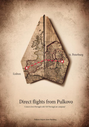 Pulkovo Airport: Plane and map Print Ad by Jekyll.Hyde.agency