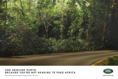 Land Rover: Genuine Parts - Gorillas Print Ad by Publicis Machine Johannesburg