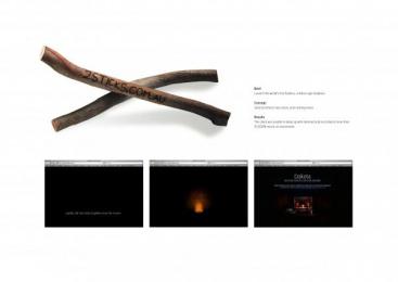 Dakota Fireplaces: TWO STICKS Direct marketing by Make