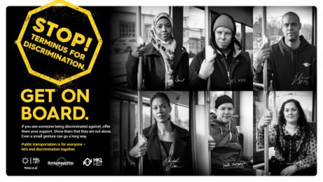 HSL Helsinki Region Transport: The Discrimination Stops Here Outdoor Advert by 358 Helsinki, Directors Guild