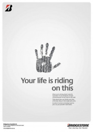 Bridgestone: Bridgestone Hands Poster Print Ad by Showpony Advertising