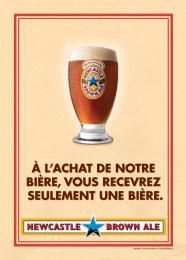 Newcastle Brown Ale: No Bollocks, 4 Print Ad by Nolin BBDO Montreal