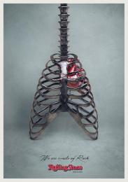 Rolling Stone Magazine: Guitar Print Ad by Accademia di Comunicazione Milan, DLV BBDO Milan