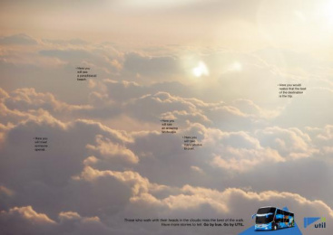 Util: In The Clouds, 1 Print Ad by Kindle Rio de Janeiro