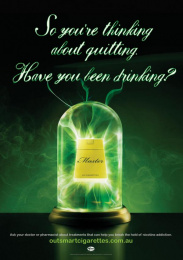 Quit: Nicotine Addiction, 3 Print Ad by Ursa Clemenger Australia