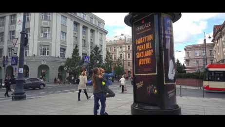Pergale: Push the button and get a bar of Pergale chocolate Ambient Advert by McCann Erickson Vilnius