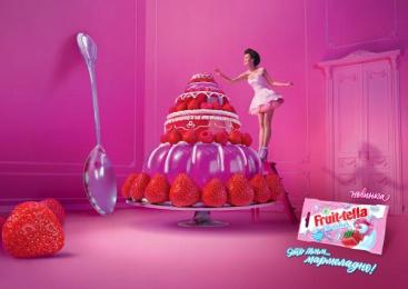 Fruit-tella: Cake Print Ad by Havas Worldwide Moscow