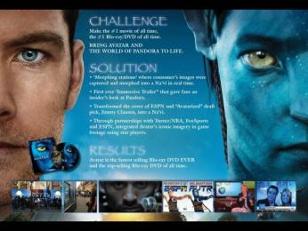 20th Century Fox: AVATAR BLU-RAY/DVD Promo / PR Ad by Moxie USA, Zenithmedia